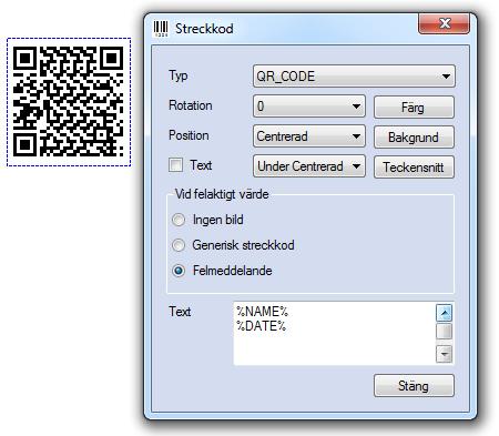 EconExact skärmbilder - Skapa streckkoder på fakturor och andra dokument