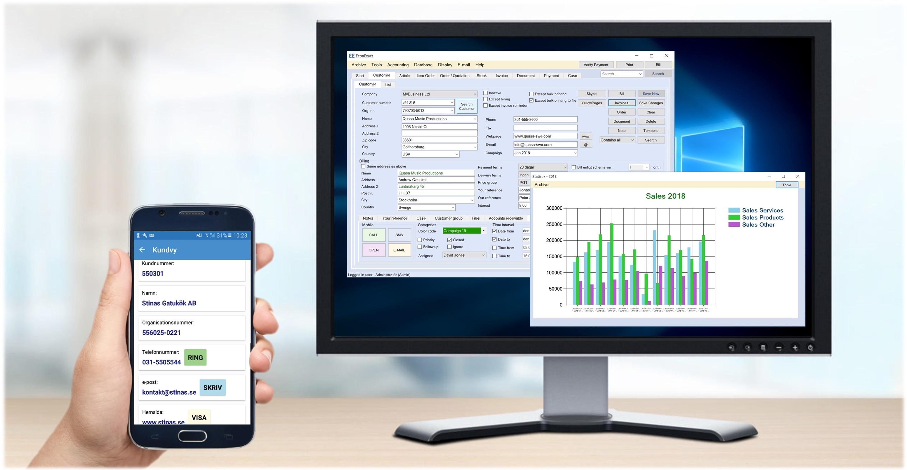 Gratis fakturaprogram till både datorn och mobilen med avtalsfakturering